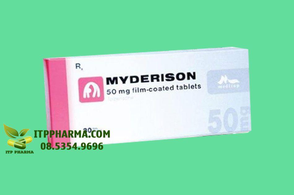 Hình ảnh hộp thuốc Myderison