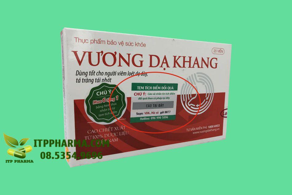 Tem tích điểm sản phẩm Vương Dạ Khang