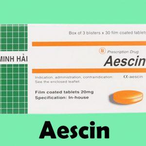 Hình ảnh thuốc Aescin 20mg