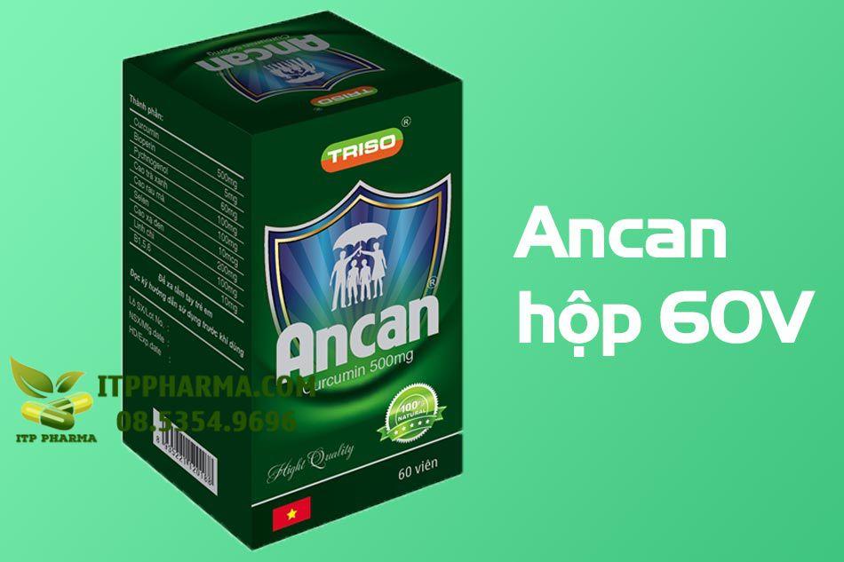 Hình ảnh hộp sản phẩm Ancan 60 viên