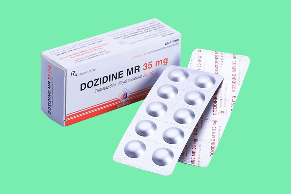 Hình ảnh mặt bên hộp thuốc và vỉ thuốc Dozidine
