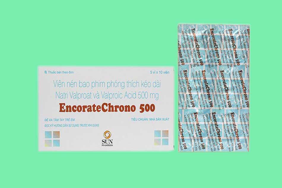 Hình ảnh hộp và vỉ thuốc Encorate Chrono 500
