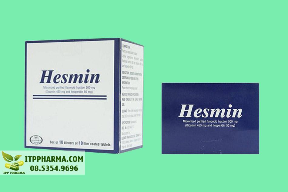 Đáy hộp thuốc Hesmin 500mg