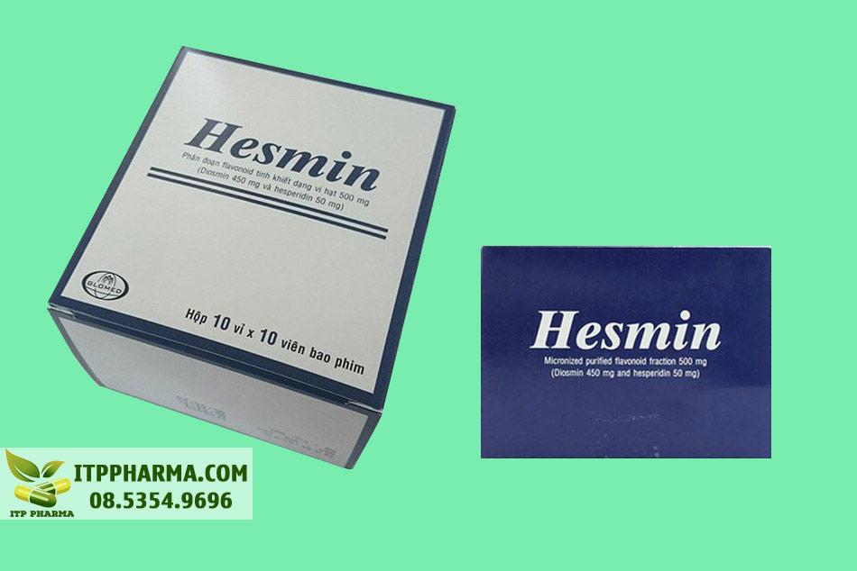 Hộp thuốc Hesmin 500mg