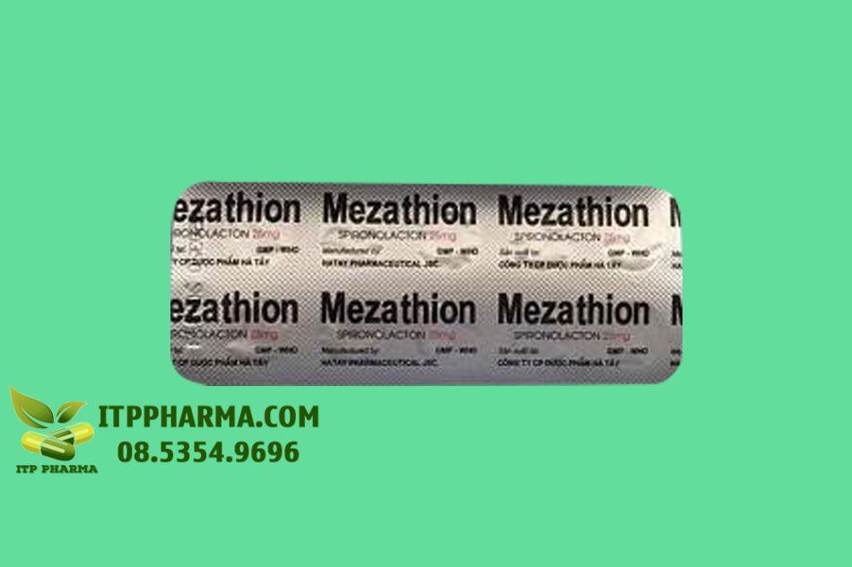 Hình ảnh vỉ thuốc Mezathion