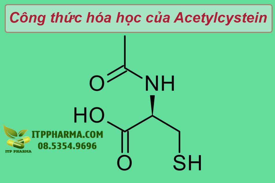 Công thức hóa học của Acetylcystein