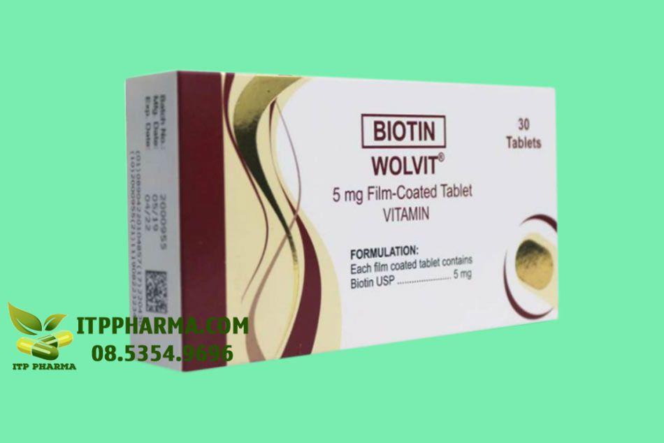 Hình ảnh mặt trước và mặt bên hộp thuốc Wolvit