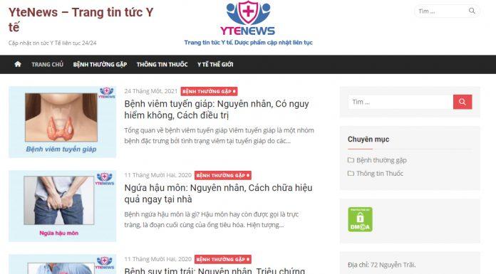 Ytenews - Trang thông tin chuyên biệt về y tế, dược phẩm và chăm sóc sức khỏe