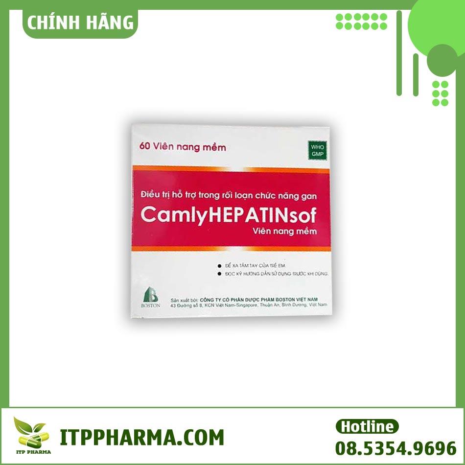 Mặt trước hộp thuốc Camlyhepatinsof