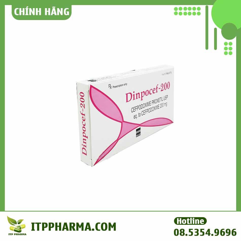 Lưu ý khi sử dụng thuốc Dinpocef 200mg