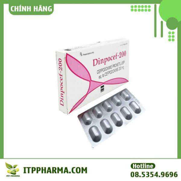 Thuốc Dinpocef 200mg điều trị nhiễm kí sinh trùng,chống nấm, chống virus hiệu quả