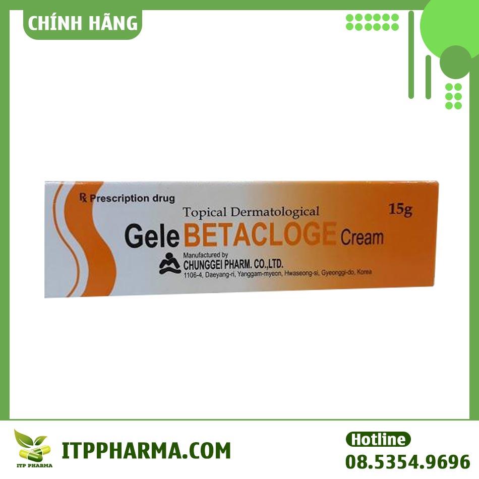 Hình ảnh hộp thuốc Gelebetacloge