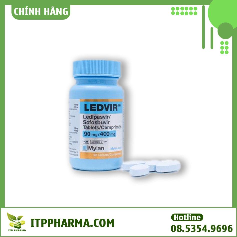 Lọ thuốc Ledvir 90mg/400mg
