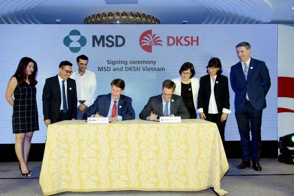 Lễ ký kết hợp tác của công ty MSD