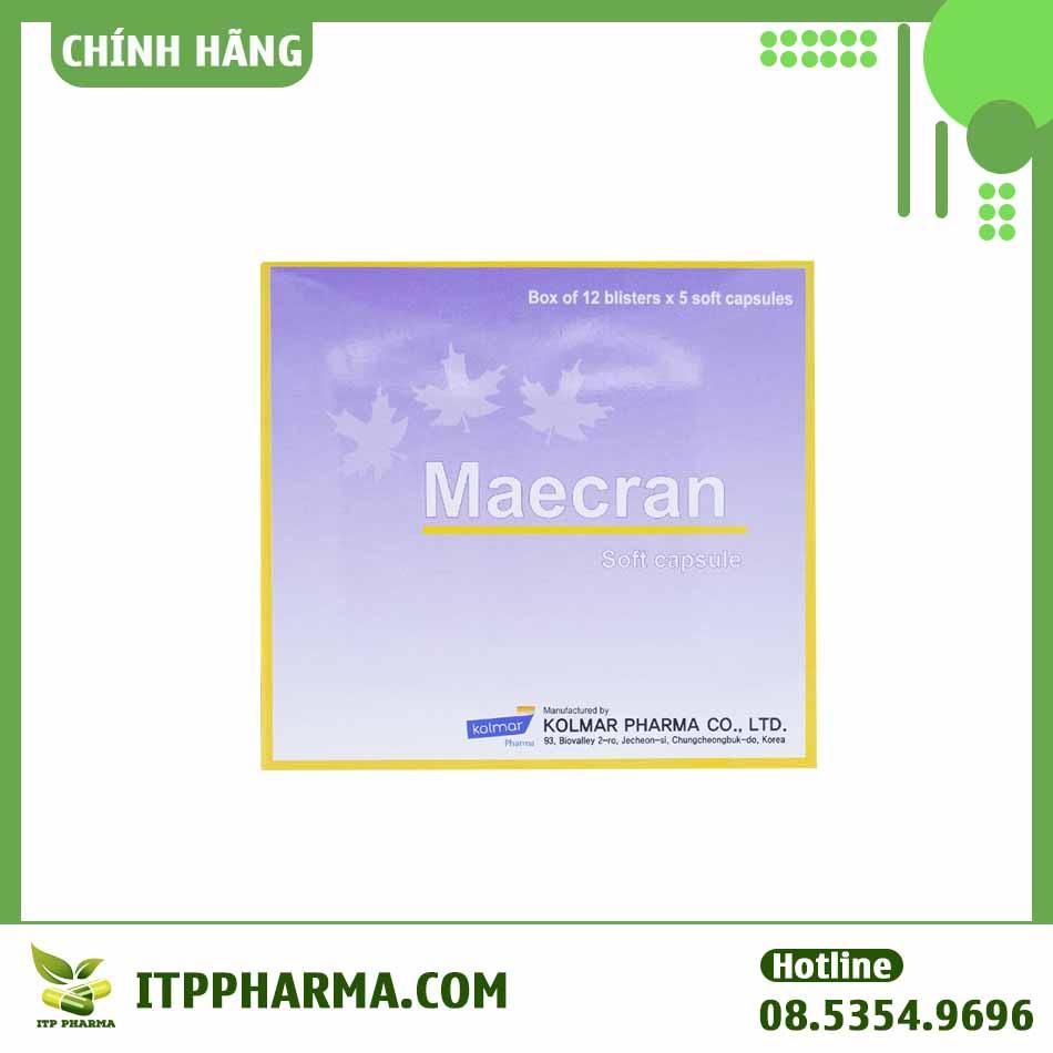 Hình ảnh mặt trước hộp thuốc Maecran