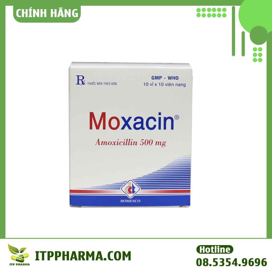 Hình ảnh hộp thuốc Moxacin 500mg