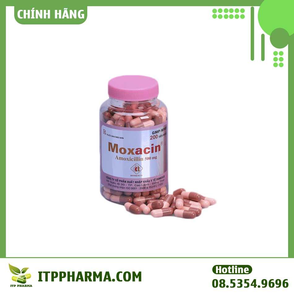 Hình ảnh lọ thuốc Moxacin 500mg
