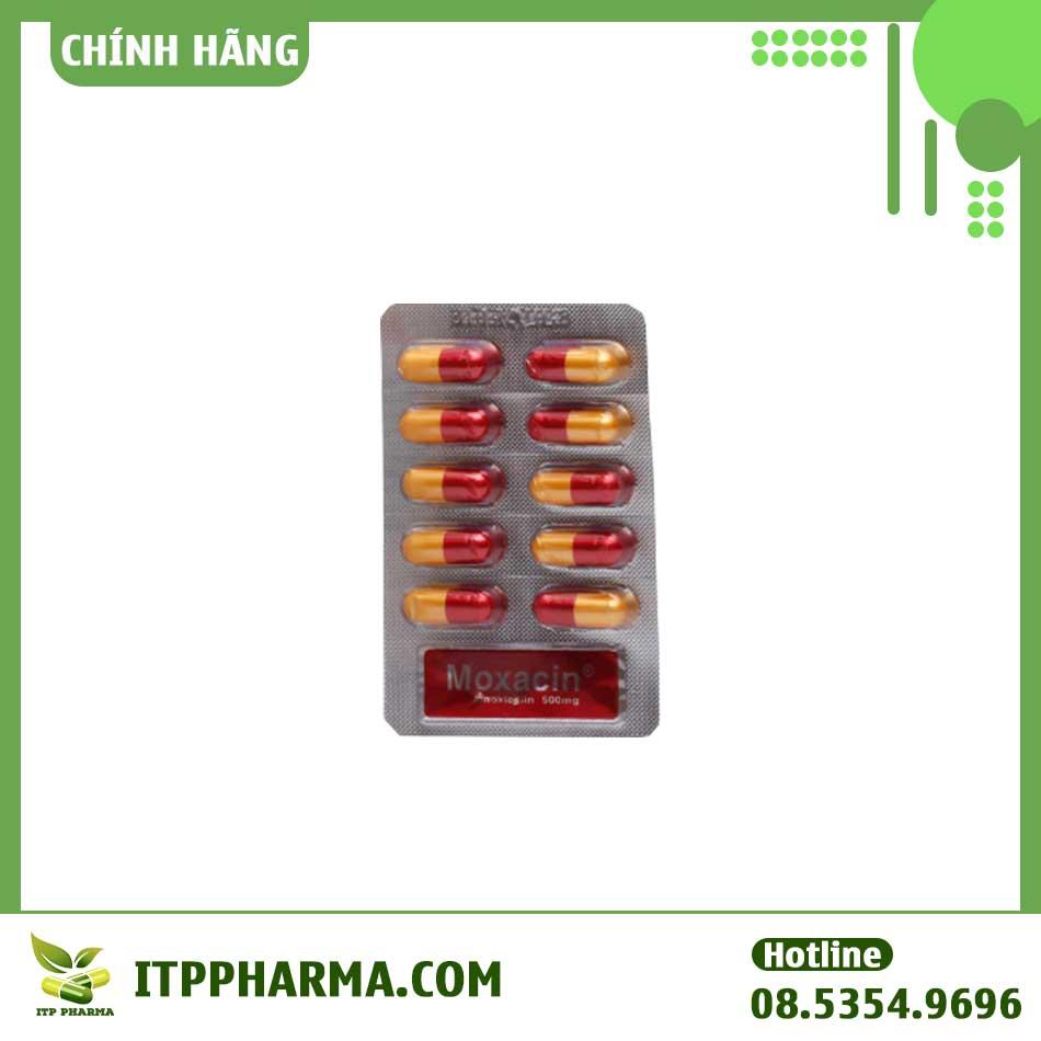 Hình ảnh vỉ thuốc Moxacin 500mg