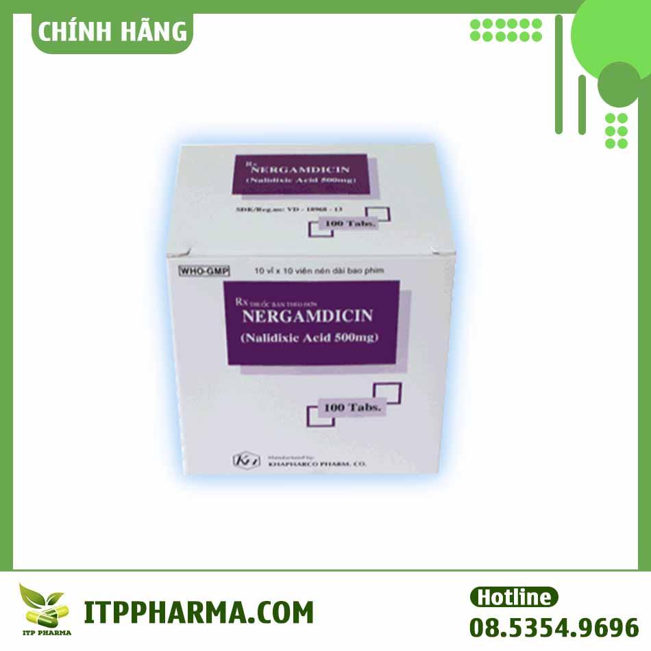 Hình ảnh hộp thuốc Nergamdicin