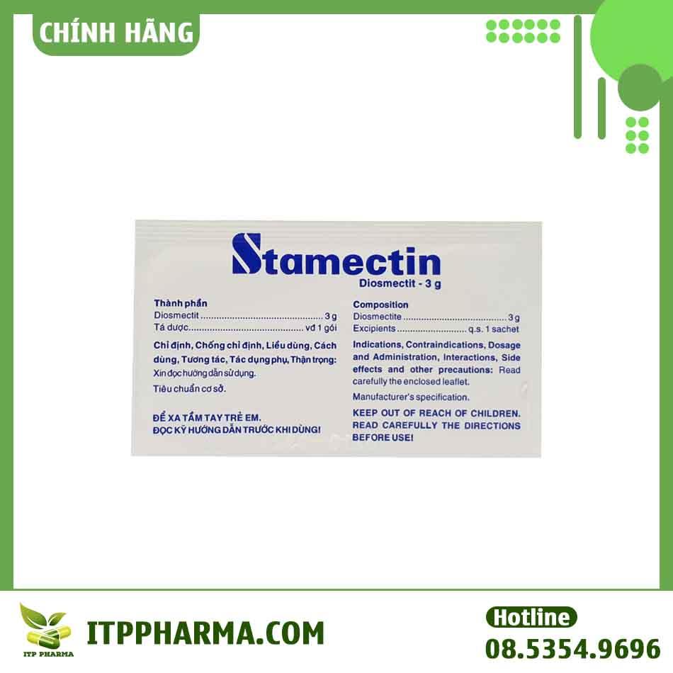 Một số thông tin của thuốc Stamectin trên hộp