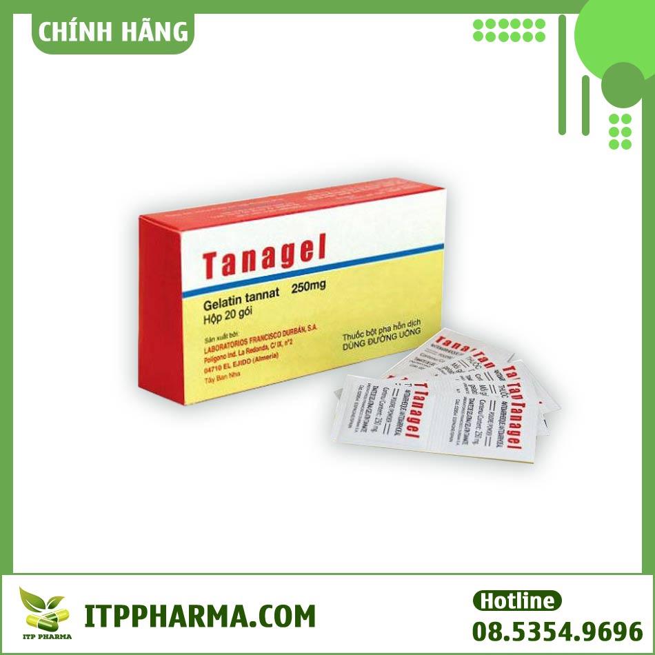 Hộp thuốc và gói thuốc Tanagel