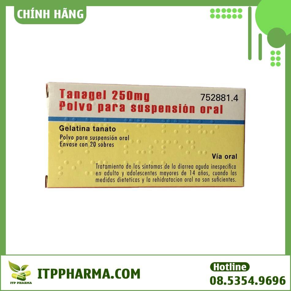 Mặt sau hộp thuốc Tanagel