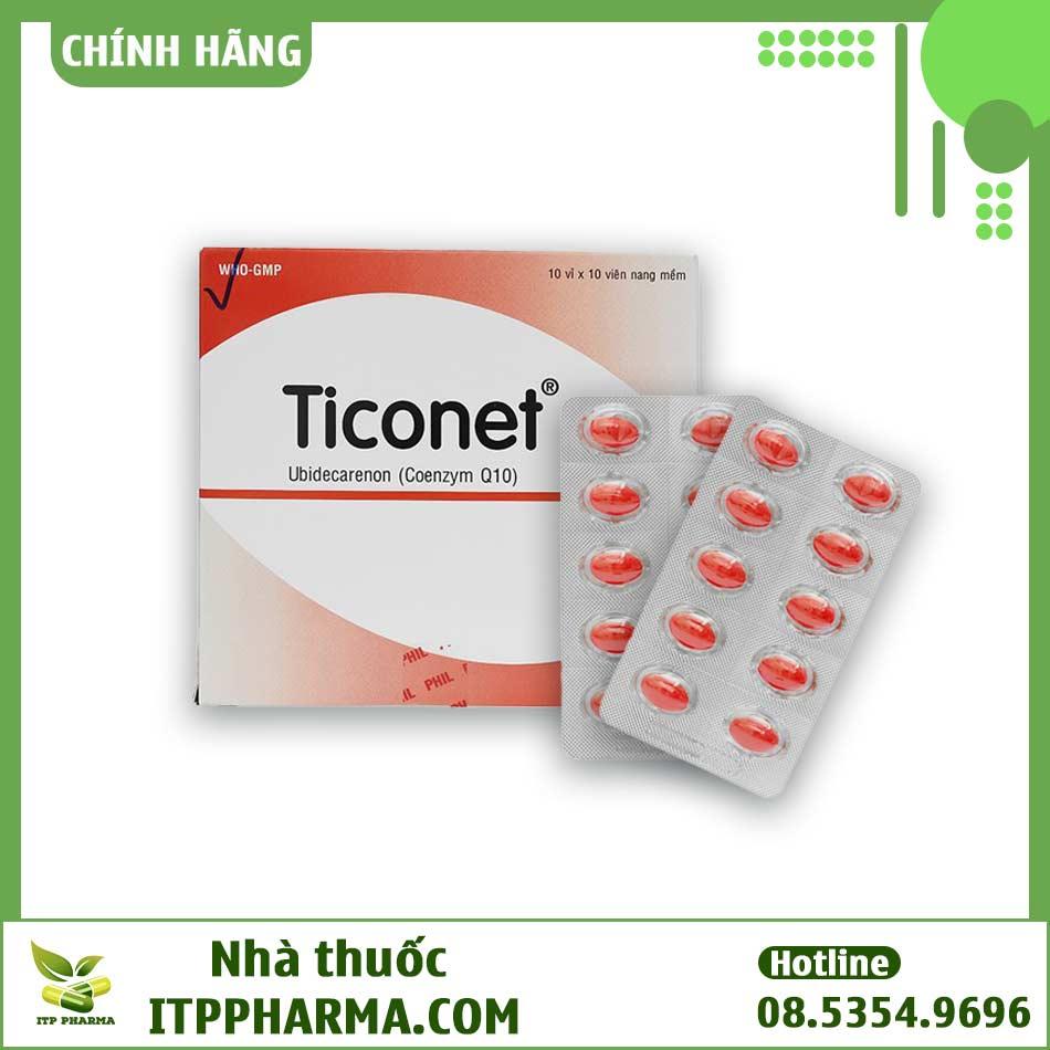 Dạng đóng gói của thuốc Ticonet