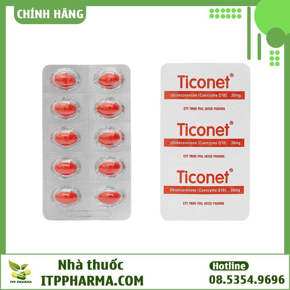 Hai mặt vỉ thuốc Ticonet