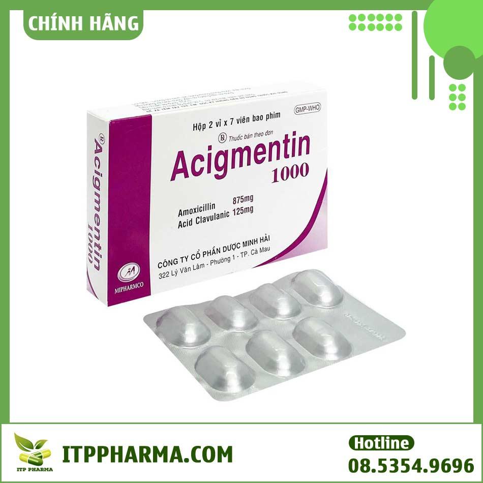 Thuốc Acigmentin