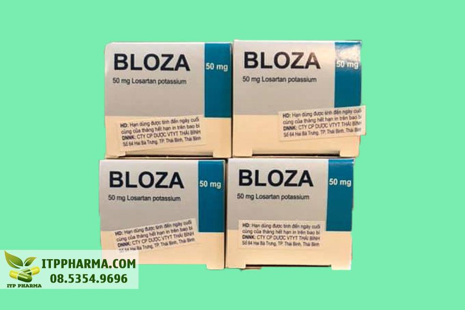 Mặt trên hộp thuốc Bloza