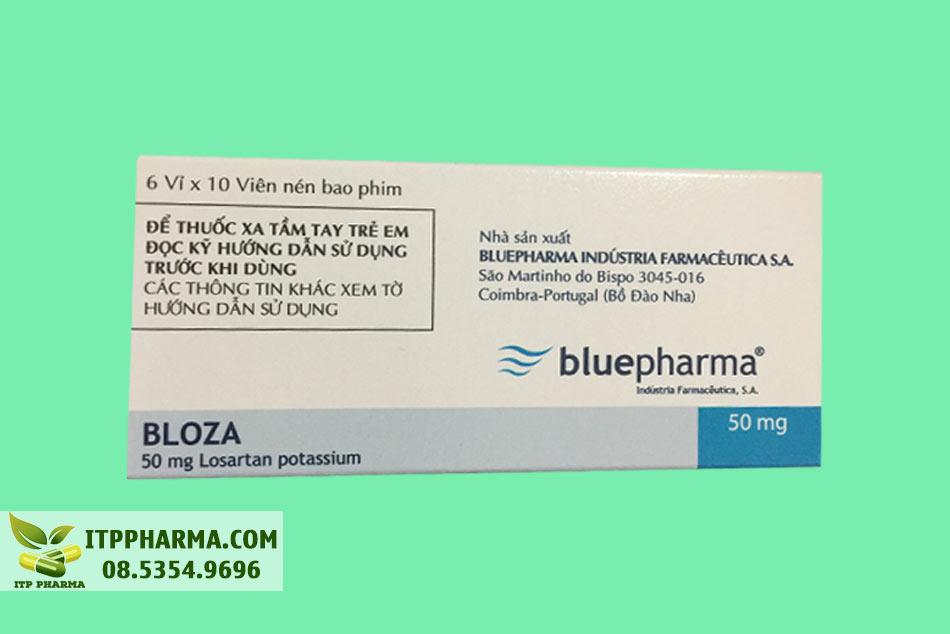 Mặt bên của hộp thuốc Bloza