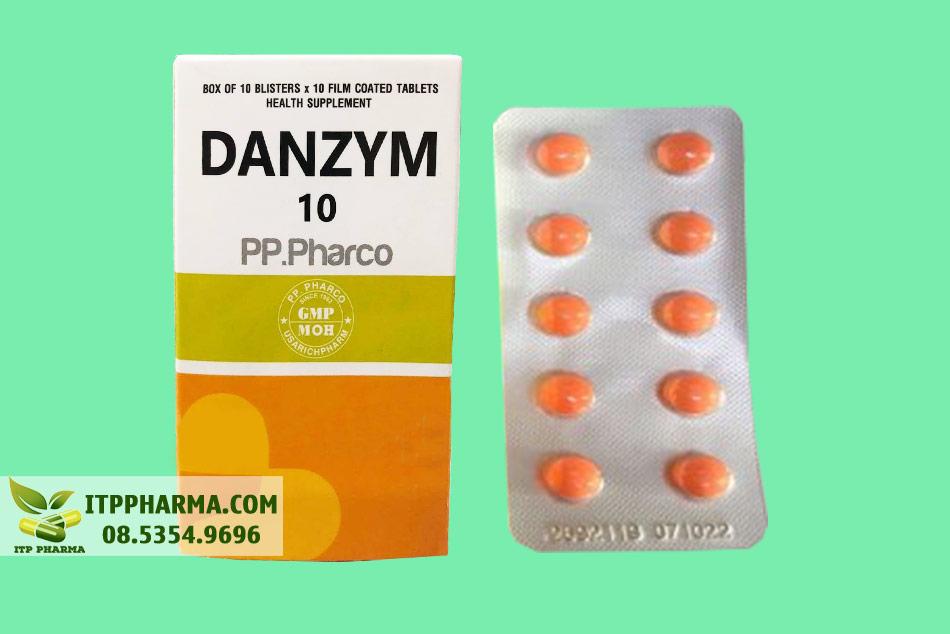 Vỉ thuốc Danzym 10mg