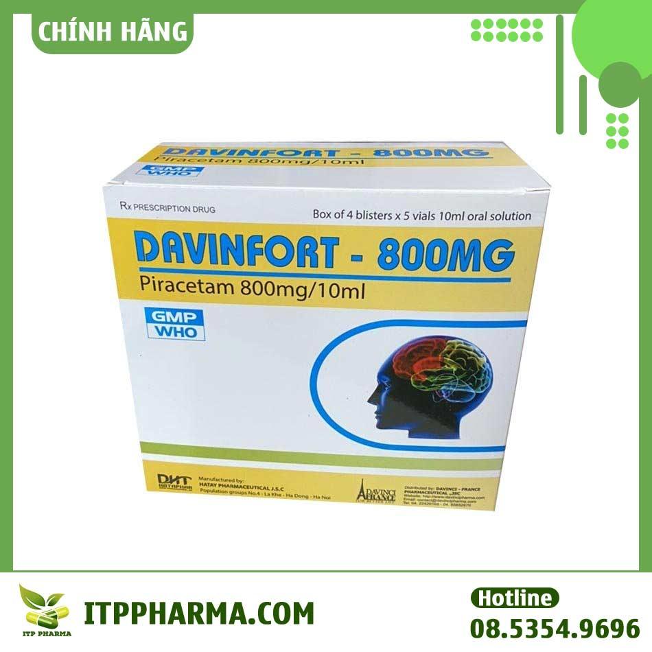 Hộp thuốc Davinfort 800mg