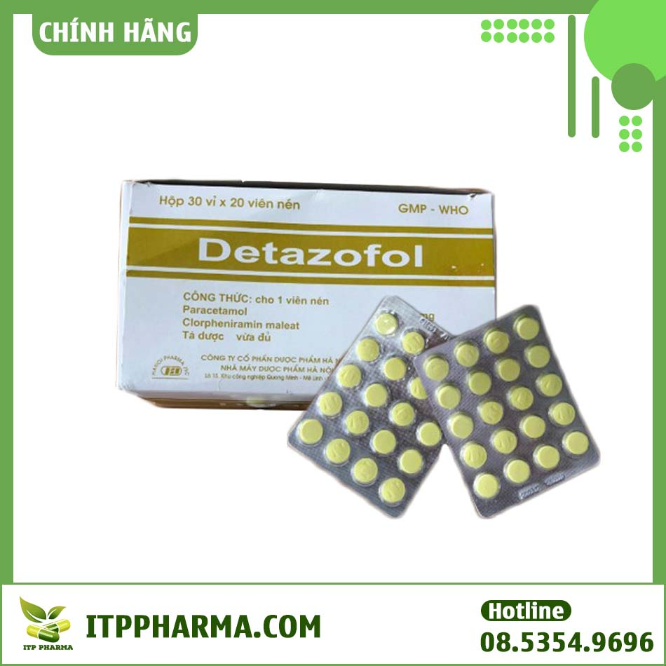 Thuốc Detazofol - Điều trị đau dây thần kinh hiệu quả