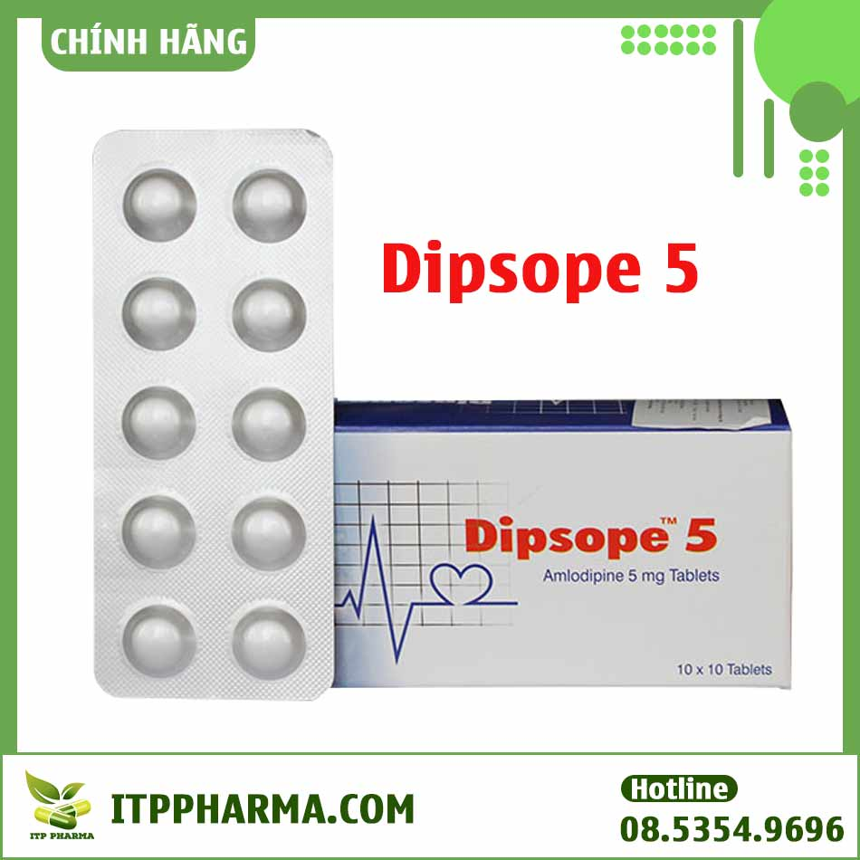 Hình ảnh hộp và vỉ thuốc Dipsope 5