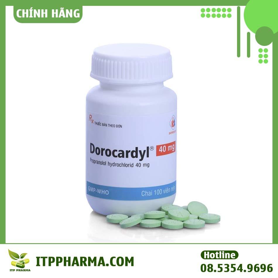 Hình ảnh hộp và viên thuốc Dorocardyl