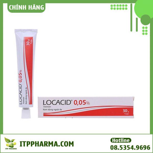 Tuýp thuốc bôi Locacid 0,05%