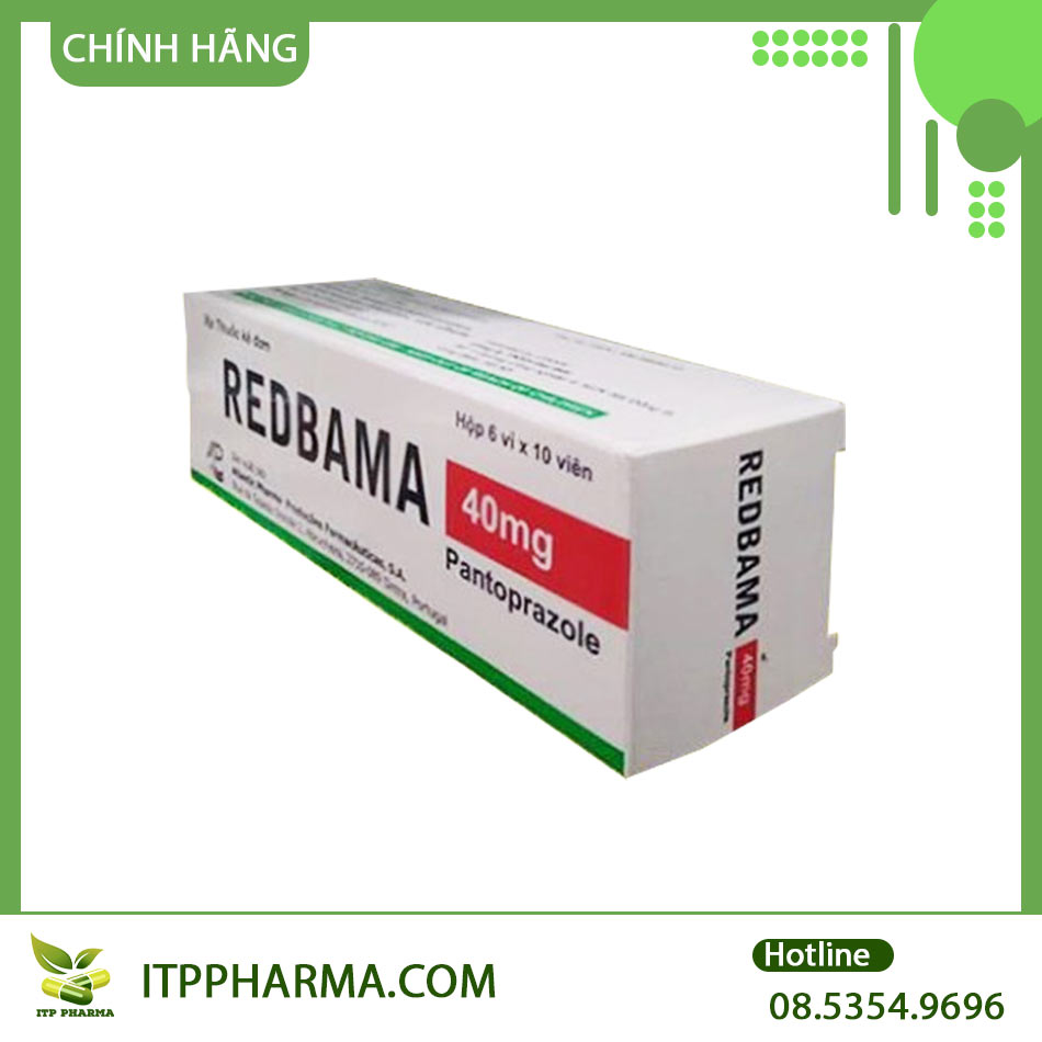 Mặt bên hộp thuốc Redbama