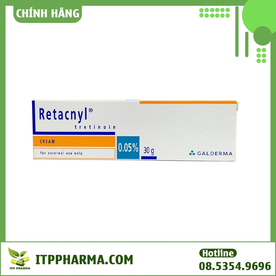 Hình ảnh hộp kem trị mụn Retacnyl