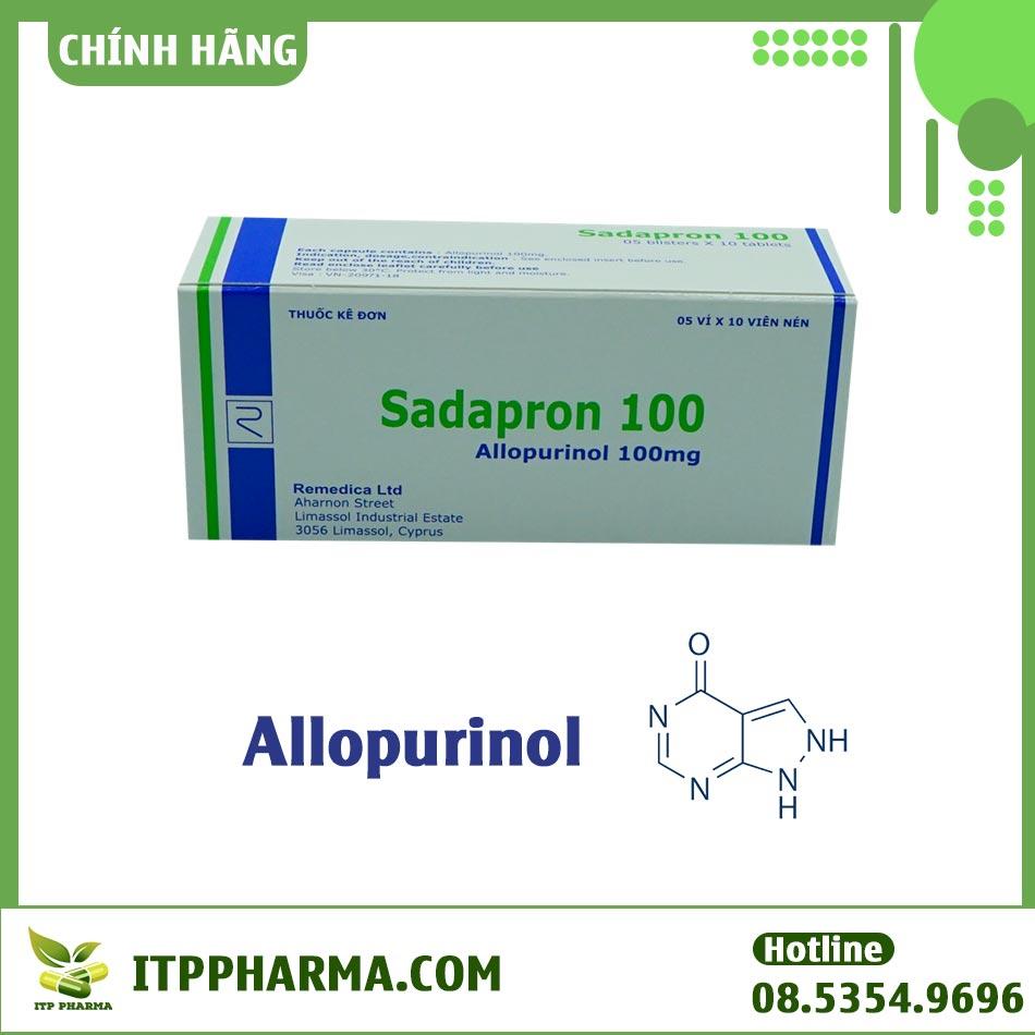 Thuốc có thành phần chính là Allopurinol