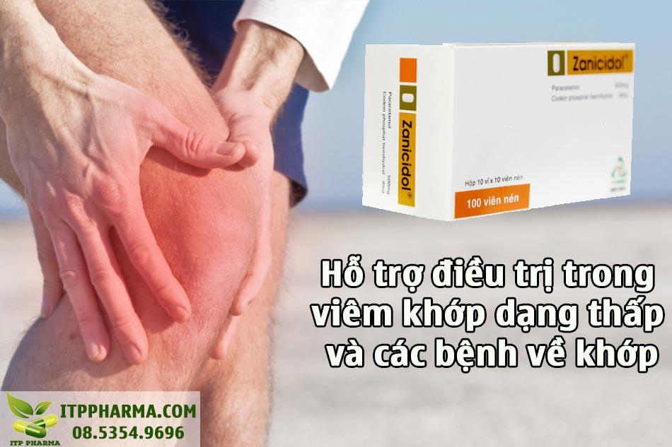 Zanicidol hỗ trợ điều trị bệnh khớp