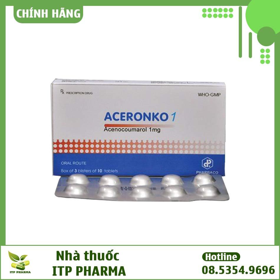 Hình ảnh hộp thuốc Aceronko 1mg