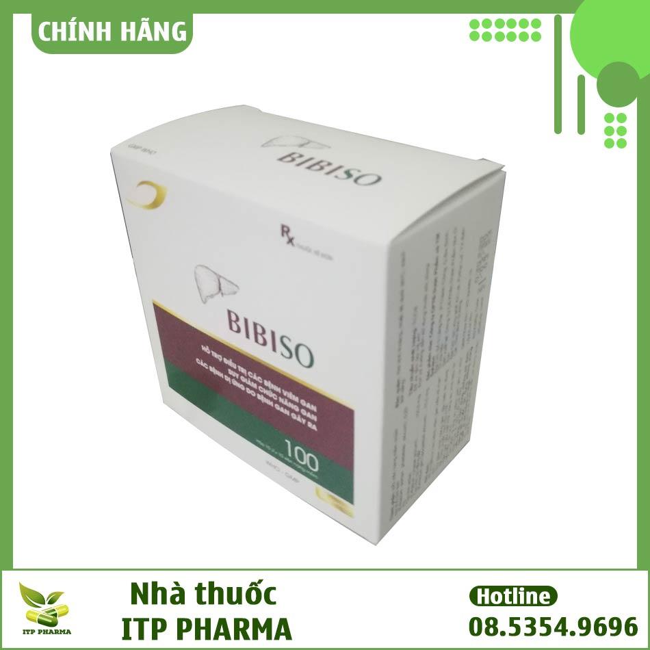 Hình ảnh hộp thuốc bổ gan Bibiso