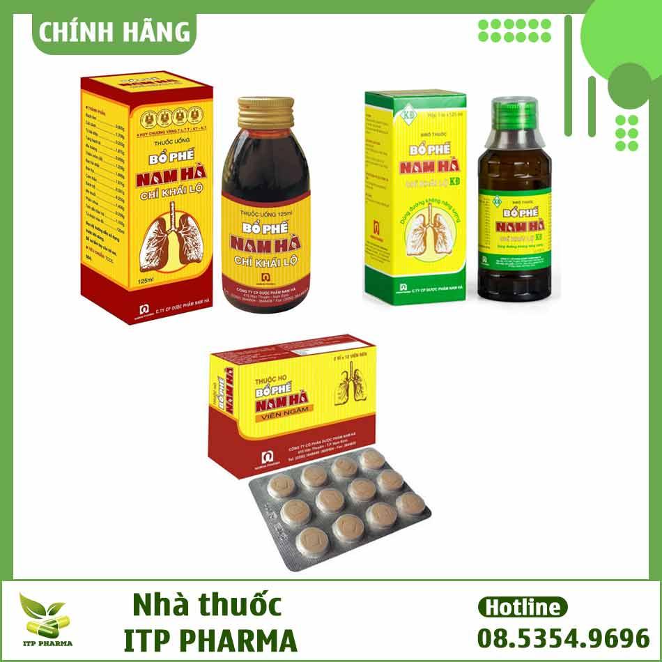 Các danjgg sản phẩm Bổ Phế Nam Hà