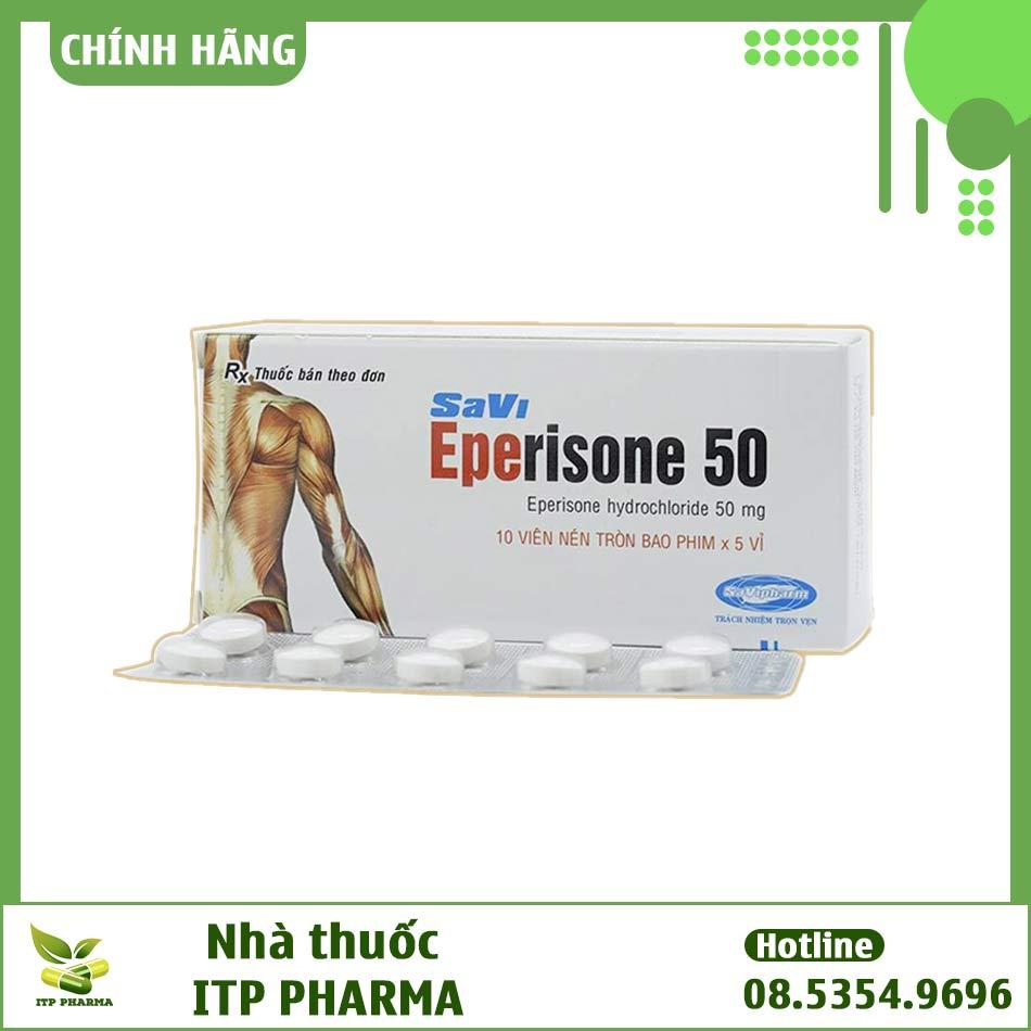 Hộp thuốc và vỉ thuốc Eperisone 50mg