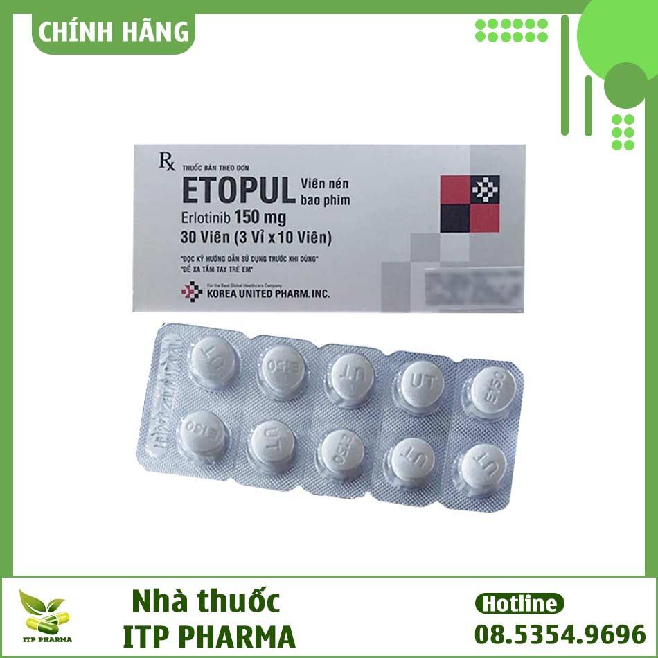 Thuốc Etopul bào chế dưới dạng viên nén