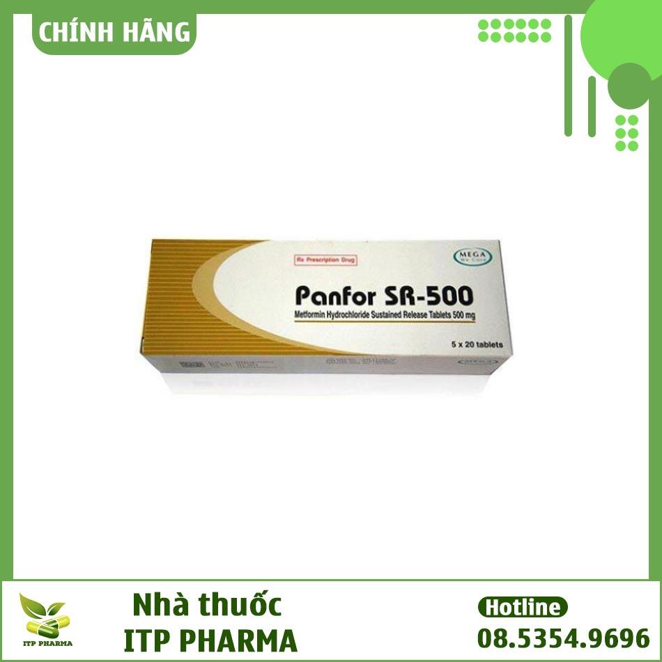 Hình ảnh hộp thuốc Panfor Sr 500