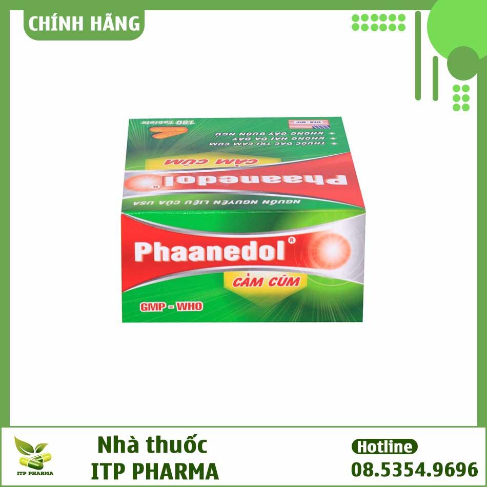 Thành phần của thuốc Phaanedol có tác dụng gì?