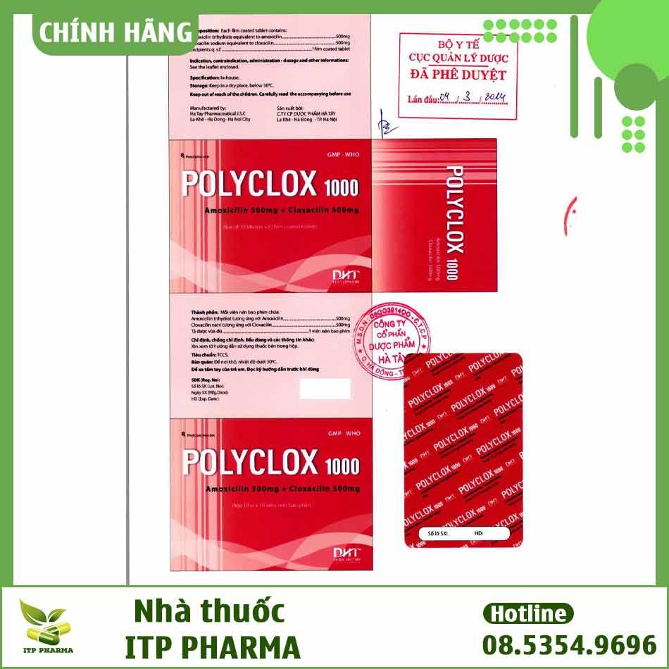 Nhãn thuốc Polyclox