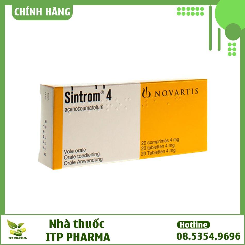 Hình ảnh hộp thuốc Sintrom 4mg